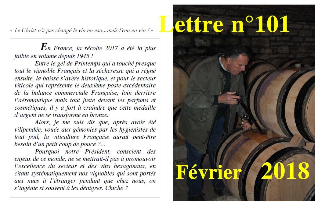 Newsletter 101 février 2018 Vinissime