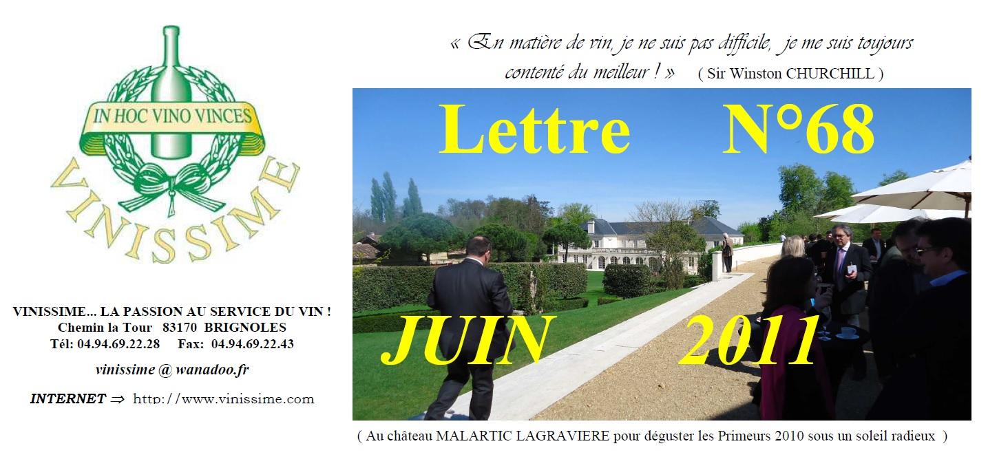 Newsletter 68 Juin 2011 Vinissime