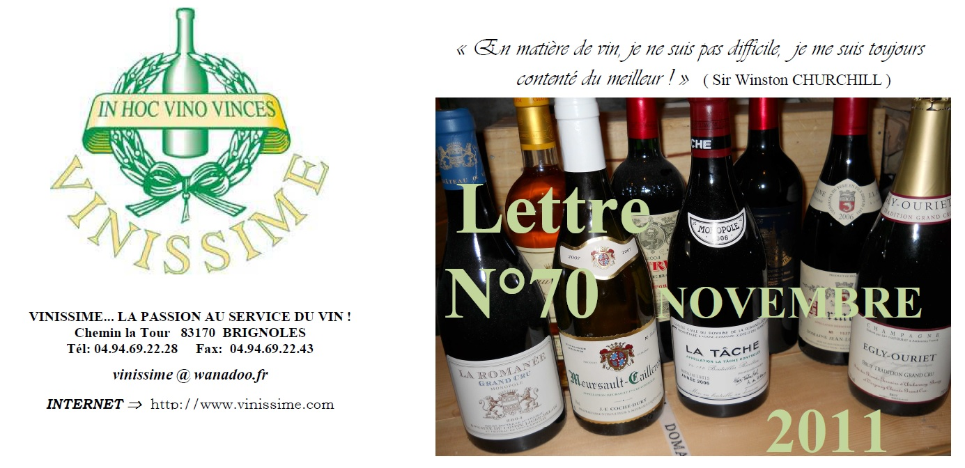 Newsletter 70 November 2011 Vinissime