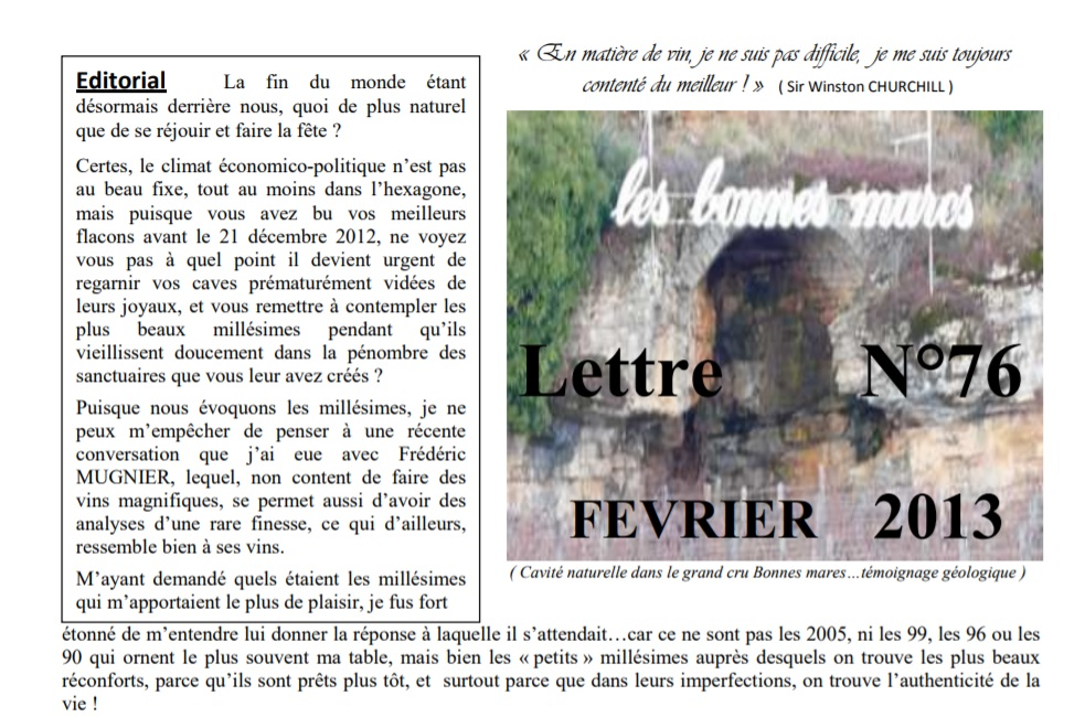 Newsletter 76 fevrier 2013 Vinissime