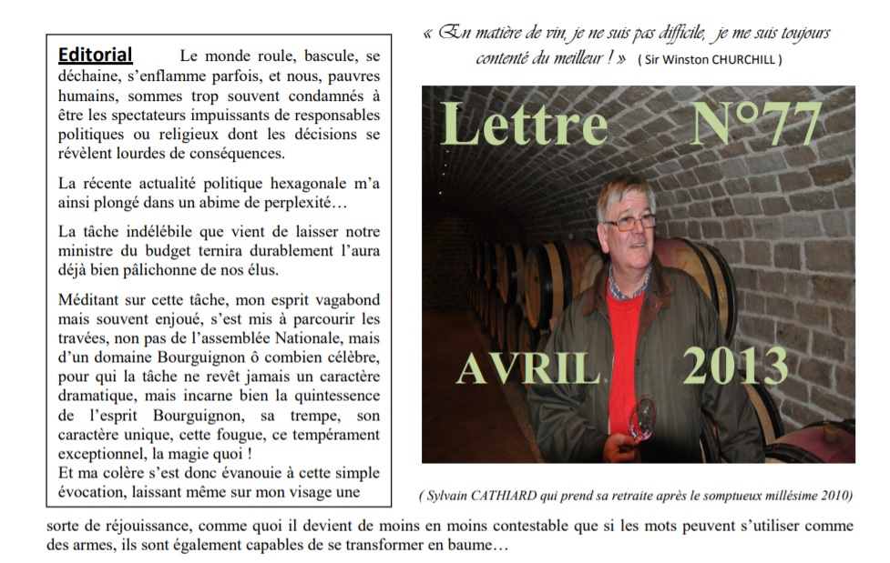 Newsletter 77 avril 2013 Vinissime