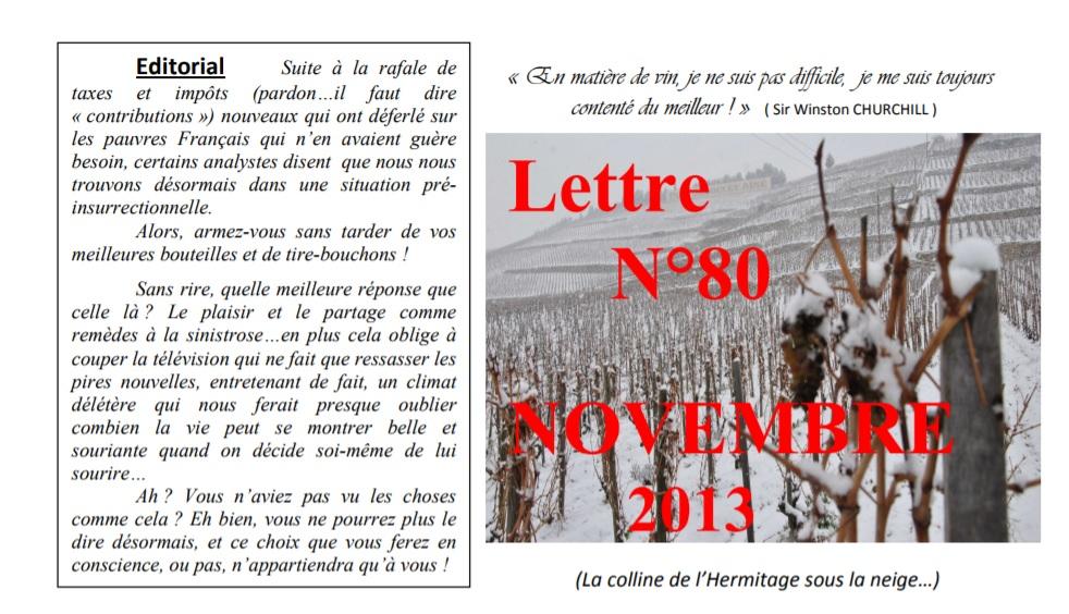 Newsletter 80 novembre 2013 Vinissime