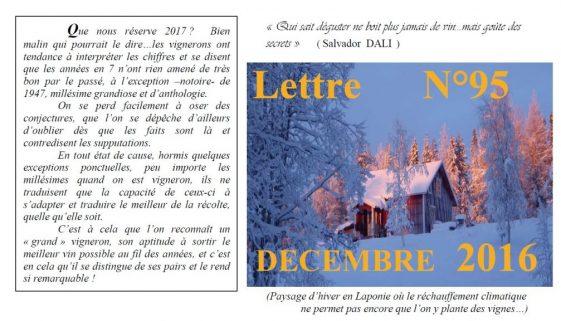 Newsletter 95 Decembre 2016 Vinissime