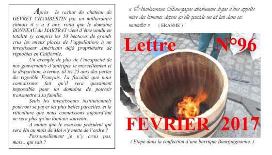 Newsletter 96 Fevrier 2017 Vinissime