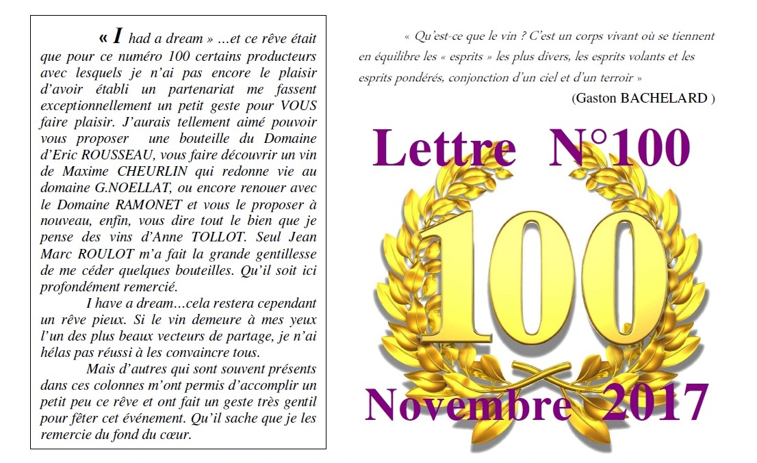 Newsletter 100 Novembre 2017 Vinissime