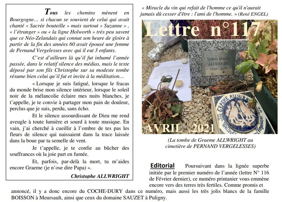 Vinissime lettre 117 Avril 2021